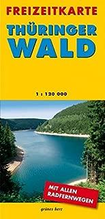 Freizeitkarte Thüringer Wald: Doppelkarte. Mit Rennsteig und Thüringenweg. Maßstab 1:120.000.