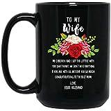 N\A Feliz día de la Madre para mi Esposa, mis Hijos y yo obtuvimos la lotería contigo Sweetheart Black Coffee Mug 11oz