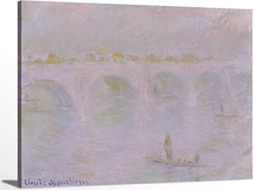 Waterloo Bridge in London by Claude Monet Oil Painting Impressionism Fine ArtWall Art Canvas