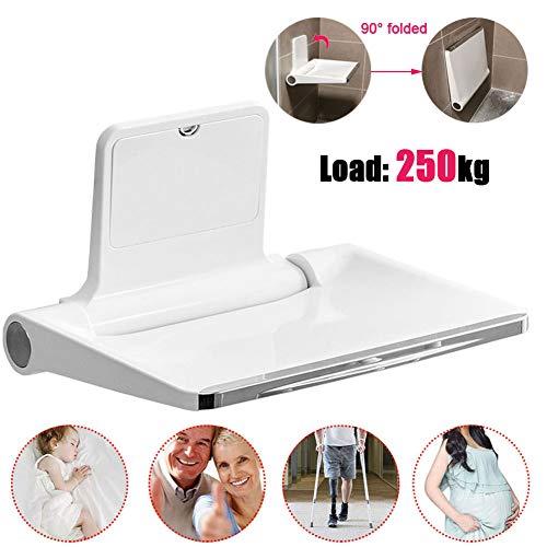 LXYYSG Duschklappsitz, Dusch klappsitz Badestühle Wandmontage Duschhilfe Klappsitz, Rutschfester Oberfläche, für Schwangere, Senioren, Behinderte