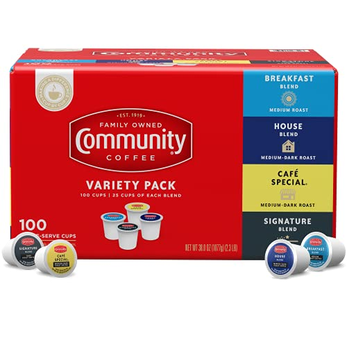 100-Ct Community Coffee Variety Pack $25.29 w/ S&S + Free Shipping