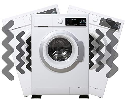 Alfombrilla de vibración para lavadora – Ajuste universal para lavadora y secadora – Anti amortiguación – Reducción de ruido/movimiento – Protección del suelo – Goma de grado industrial
