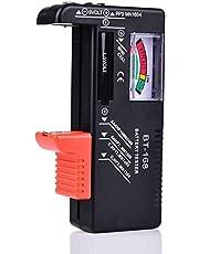 Comecase - Comprobador de batería para AAA, AA, C, D, 1.5V, 9V y pequeñas baterías, probadores de nivel de vida de la batería con medidor de voltaje