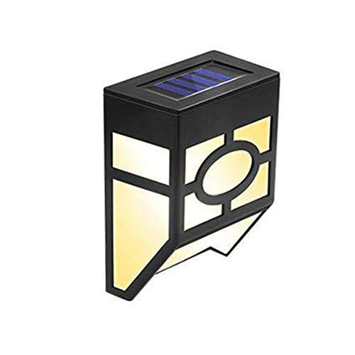 CJMING Appliques Solaires, Led Solaire Lampe Mural Dextérieur, Lumière Solaire Sécurité étanche, Lumières De Poteau De Clôture Solaire Pour Le Paysage Descaliers De Cour De Jardin