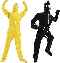 【2枚組】 BIBI LAB   ビビラボ 人型寝袋フリース X エックス   黄色&黒色セット   KIDSサイズ   身長144cm   着る毛布  ...