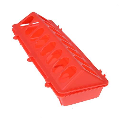 Bloomeet 1 Stück Kunststoff Flip Top Vogel Geflügel Futtertrog Fütterung Huhn Tier Zucht Werkzeug Spender Box Box Box