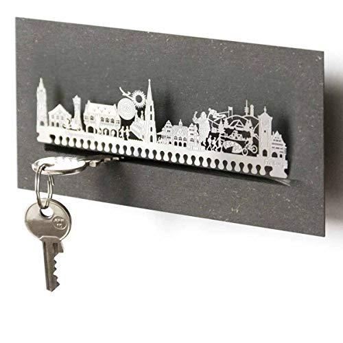 Freiburg-Skyline Schlüsselbrett Souvenir in der Geschenk-Box