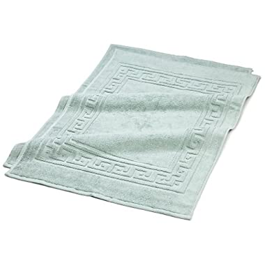 Superior Hotel & Spa Quality Bath Mat Set of 2, Made of 100% Premium Long-Staple Combed Cotton, Durable and Washable Bathroom Mat 2-Pack - Sage, 22  x 35  each