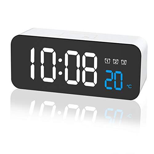 ZKIAH Reloj Despertador Digital, Despertador Fornite Reloj Mesita de Noche con Snooze, 3 Alarmas, Fecha, Temperatura, Brillo Ajustable Despertador con Pilas