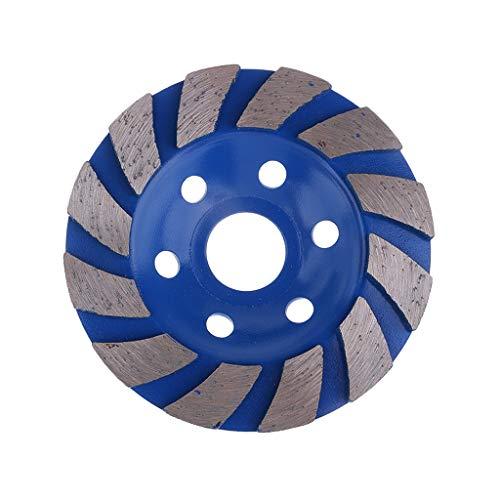 Disco De La Rueda De La Taza De Pulido Del Diamante De 4inch Molinillo De Cerámica De La Piedra Del Granito Concreto - azul 22mm