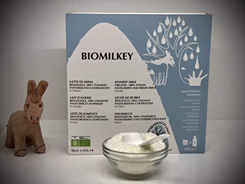 Latte di Asina Biologico in polvere 100 g - uso alimentare, gusto delicato, da bere ricostituito,...