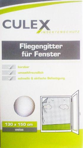 culex Fliegengitter für Fenster,Insektenschutz 130x150 cm weiss