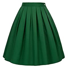 Women Midi Skirt : 1 Pockets each side; A Line; Pleated Design; Knee Length Suit for Casual, Dating, Working, Banquet, Wedding, Cocktail Party, Cosplay, Evening Occasion. Hand Wash or Dry Clean are Recomended Women's Floral Vintage Skirt, 50s Style, ...