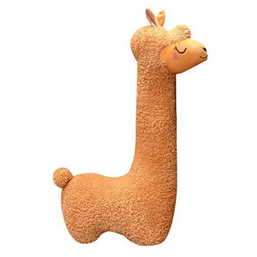 Aoten Fluffy Alpaca Cutest Snuggle Buddy Alpaca Plush Long Neck Plush Toy Sofa Pillow Cushion Cartoon Stuffed Dolls