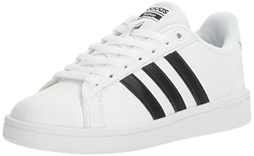 adidas Women's Shoes | Cloudfoam Advantage Cl Sneakers, White/Black/White, (8.5 M US)