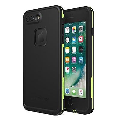 Lifeproof FR? SERIES Waterproof Case for iPhone 8 Plus & 7 Plus (ONLY) - Retail Packaging - NIGHT LITE (BLACK/LIME)
