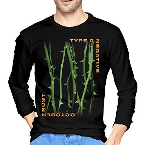 Type O Negative - Camiseta de manga larga para hombre con cuello redondo