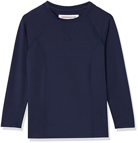 Marca Amazon - RED WAGON Camiseta Deportiva Niñas, Azul (Navy), 110, Label:5 Years