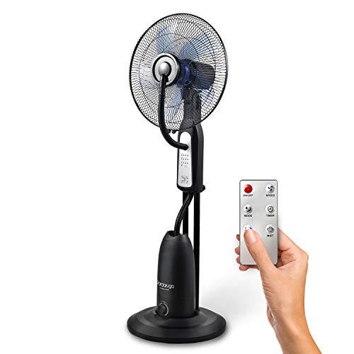 Ventilador digital Dardaruga con nebulizador de agua, función de refrigeración por Agua y Mando a Distancia