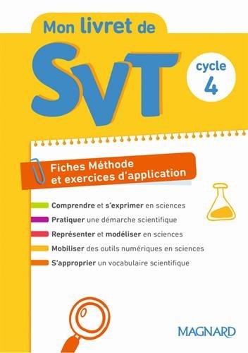 SVT Cycle 4 Mon livret de SVT