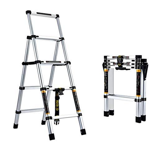 ZXMDP Aluminium Top Step Ladder, Lichtgewicht 5-Step Ultra-Licht Kruk, Inklapbaar Vouwen, Gebruik Voor Huishouden en Office Draagbare Stap Kruk