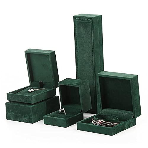 ABUKY Jewelry Box Storage Thick Side Ring Box Pendant Bracelet Bracelet Jewelry Finishing Storage Bag