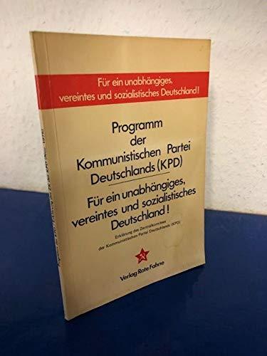 Programm der Kommunistischen Partei Deutschlands (KPD)