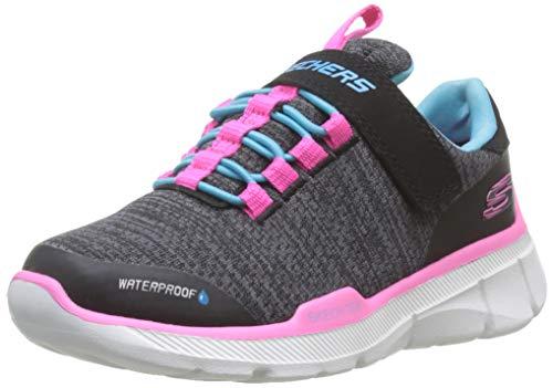 Skechers Mädchen Equalizer 3.0-Mbrace Sneaker, Schwarz (Black & Charcoal Textile/Turquoise & Pink Trim Bktq), 27 EU