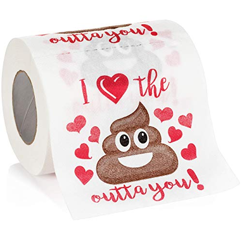 Maad Romantic Novelty Toilet Paper - Funny Gag Gift for Valentine's Day...