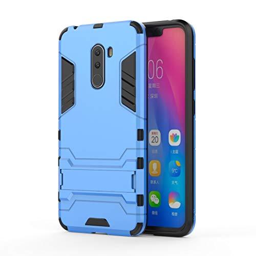 Casi Xiaomi Custodia Antiurto for PC + TPU for Xiaomi Pocophone F1, con Supporto (Nero) Casi Xiaomi (Colore : Blue)