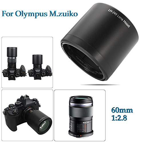 BELONG Camera Long Lens Hood for Olympus M.ZUIKO Digital ED 60mm 1:2.8 Macro LH-49 6cm x 6cm x 5.5cm