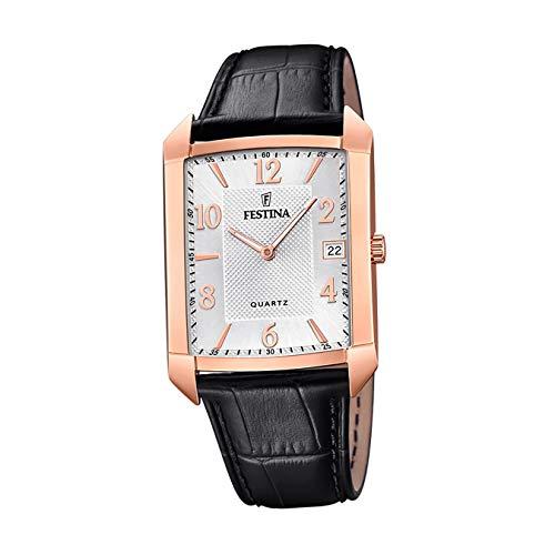 Festina Herren Analog Quarz Uhr mit Leder Armband F20465/1