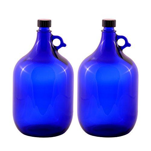 LGL Haushaltswaren GmbH Glasballonflasche/BLAU/Gallone / 2 Liter oder 5 Liter (2 x 5 Liter)