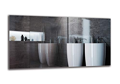 Espejo Standard - Espejo sin Marco - Dimensiones del Espejo 130x70 cm - Espejo de baño - Espejo de Pared - Baño - Sala de Estar - Cocina - Hall - M1ST-01-130x70 - ARTTOR