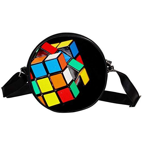 Magic Cube Puzzle Play   Bolso bandolera circular para mujer y niña