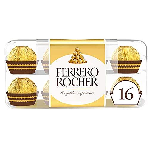 Ferrero Rocher Bombones Praliné de Chocolate, 16 x 200g