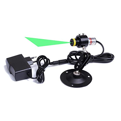 Φ18x65mm Glass Lens 520nm Class II 5V Focusable Direct Green Laser Line Module for Clothes Cutting/Wood Cutting/Mechanical Positioning (Laser Module + Adapter + Holder)