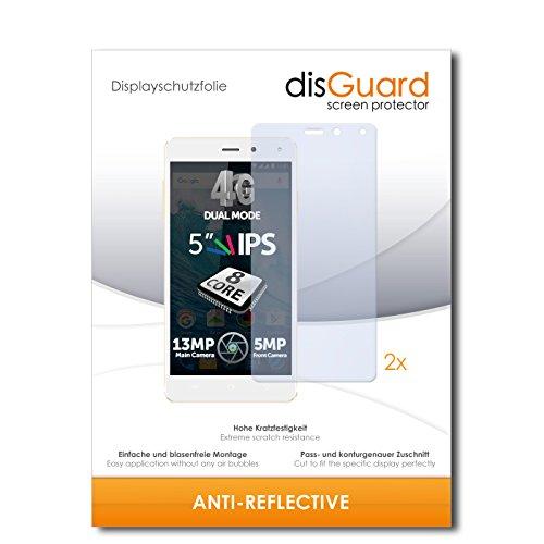 disGuard® Bildschirmschutzfolie [Anti-Reflex] kompatibel mit Allview E4 [2 Stück] Entspiegelnd, Matt, Antireflektierend, Extrem Kratzfest, Anti-Fingerabdruck - Panzerglas Folie, Schutzfolie