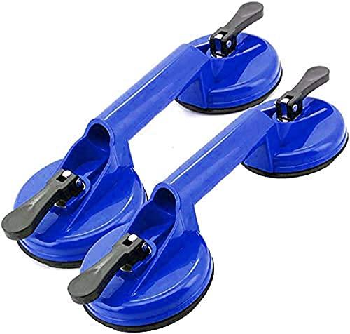 FCPLLTR Tazas de ventosas de Vidrio, Placa de Ventosa de Doble manija de Aluminio de Alta Resistencia Placa de Vidrio Profesional/Elevador/Pinza, Tirador Dental, Paquete de 2