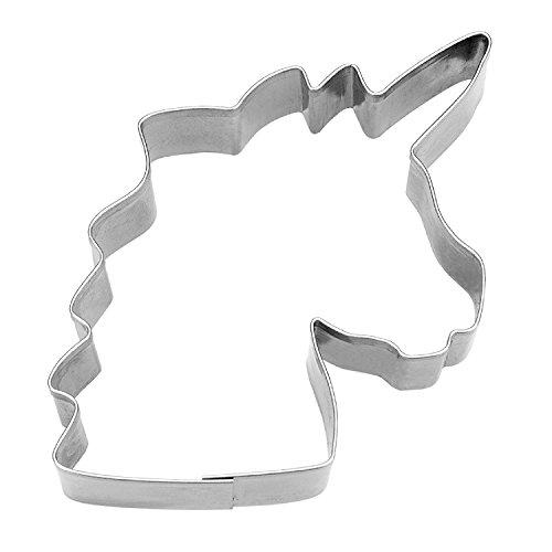 Städter Ausstechform Einhorn aus Edelstahl in Silber, 8cm