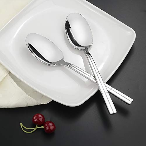 Lesbin Large Serving Spoon, 8-Piece Stainless Steel Buffet Serving Spoons
