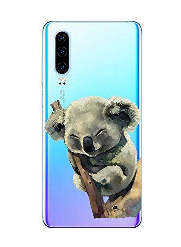 Oihxse Compatible pour Huawei Nova 5/Nova 5 Pro Coque Ultra Fine Transparente TPU Silicone Doux Protection Housse Motif/Exact Fit/Souple pour Huawei Nova 5/Nova 5 Pro(Paresse A6)