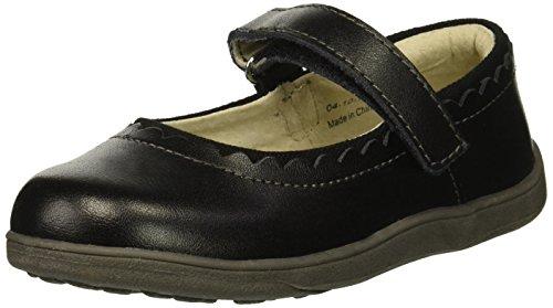 See Kai Run Girl's Jane II Flat, Black, 10 M US Toddler