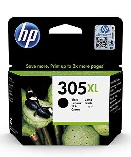 HP 305XL Cartouche d'Encre Noire Grande Capacité Authentique (3YM62AE) pour HP DeskJet 2300, HP DeskJet 2700, HP DeskJet Plus 4100, HP ENVY 6000 et HP ENVY Pro 6400