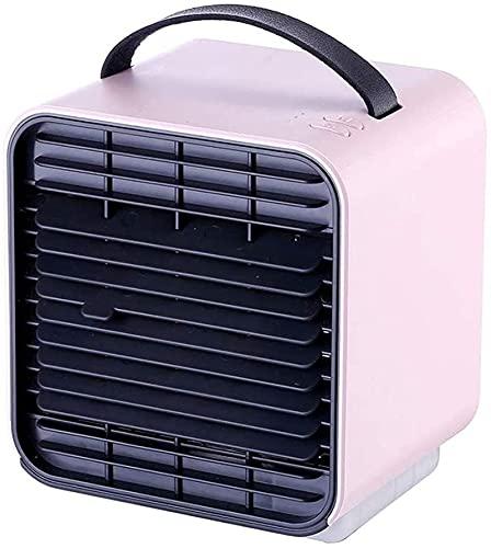 Bar Stools Ventilador de Aire Acondicionado Ventilador portátil Mini Ventilador, Ion Negativo refrigerador de Aire pequeño Cargador USB para Estudio de Escritorio de Dormitorio (selección Col