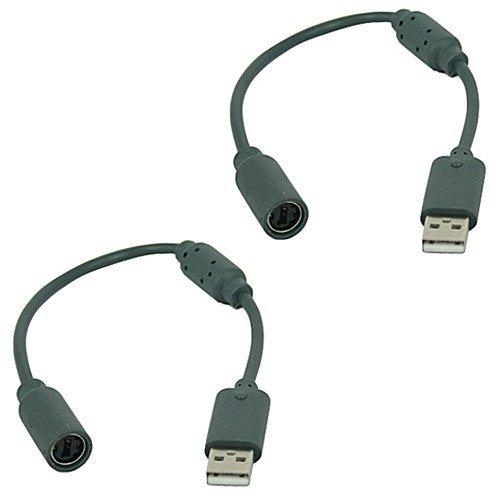 DIVISTAR 2 Stück Ersatz-Dongle USB Breakaway Kabel für Xbox 360 Controller
