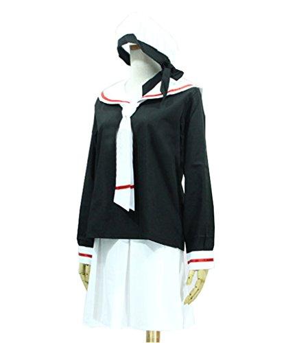 『【Guirui】カードキャプターさくらコスプレ衣装 さくら セーラー服 制服 ロウイン変装 日常着 仮装 cosplay M』の2枚目の画像