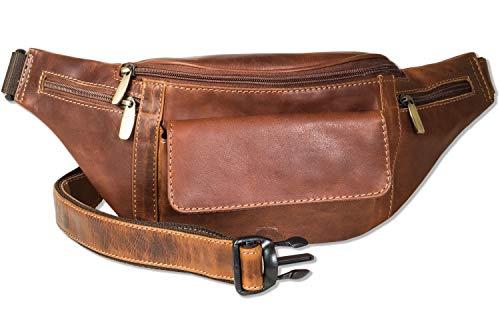 Woodland® Grote heuptas met veel ruimte van zacht, natuurlijk buffelleer, Multicolor/cognac (bruin) - 6642956