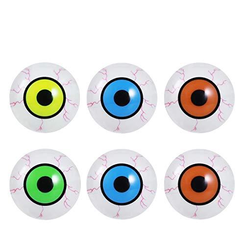 PRETYZOOM 6 Piezas Máscara de Globos Oculares de Halloween Luz LED Globos de Ojo de Miedo Fiesta de Disfraces Globos Oculares de Plástico para Las Noches de Terror de Halloween
