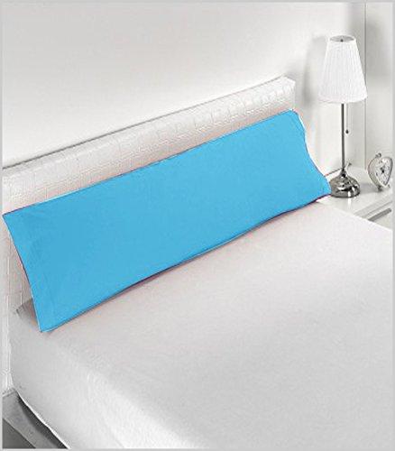 Miracle Home Housse de coussin douce et confortable en coton 50 % polyester Turquoise 105 cm